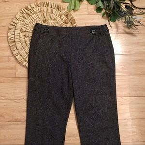 Dana Buchman Black  Tweed Look Dress Pant Size 12